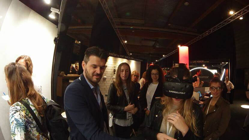 VR Experience di Porcelaingres al Arch-at-work 2017 con Superresolution