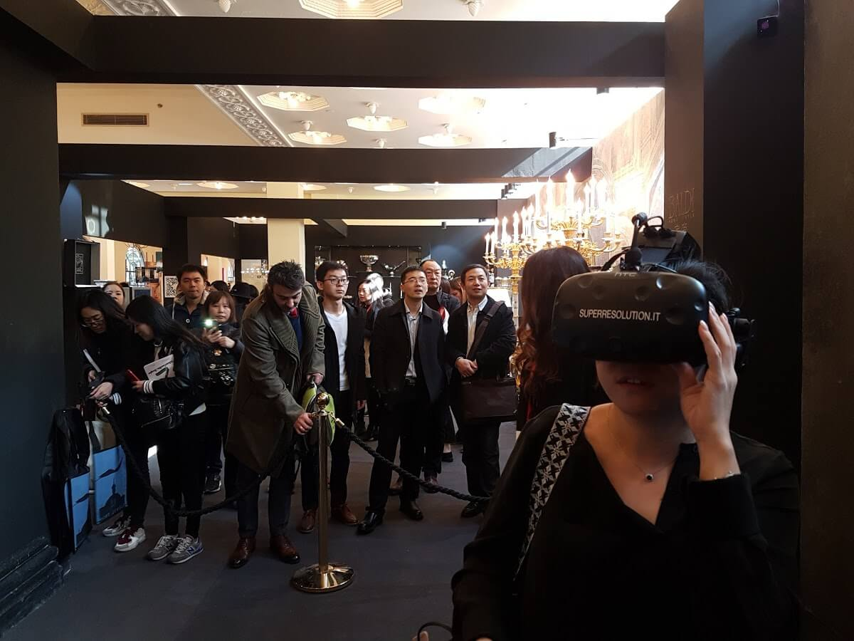Evento VR al Salone del Mobile Milano Shanghai 2017 con Superresolution