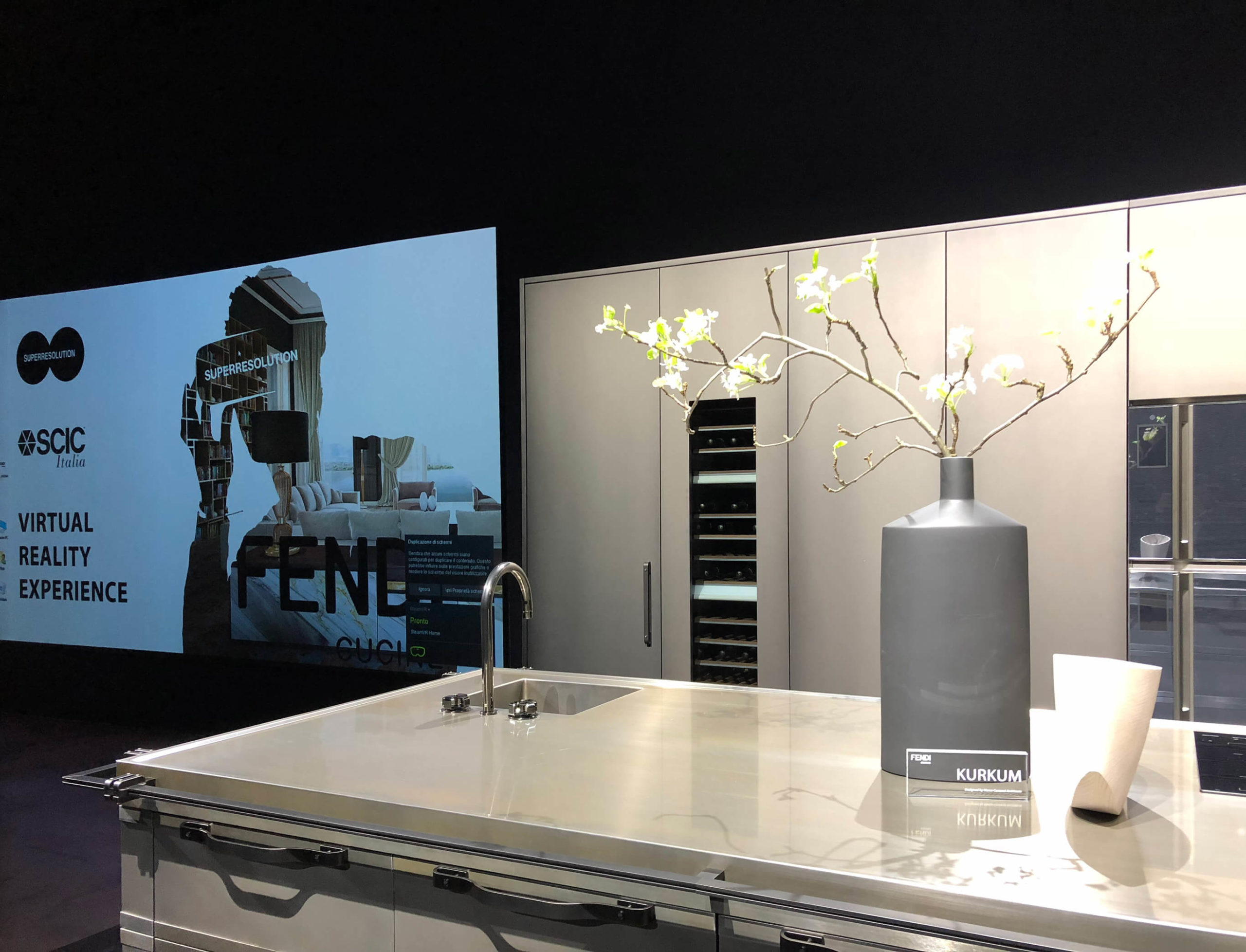 Fendi cucine al Salone del Mobile 2018 con Superresolution