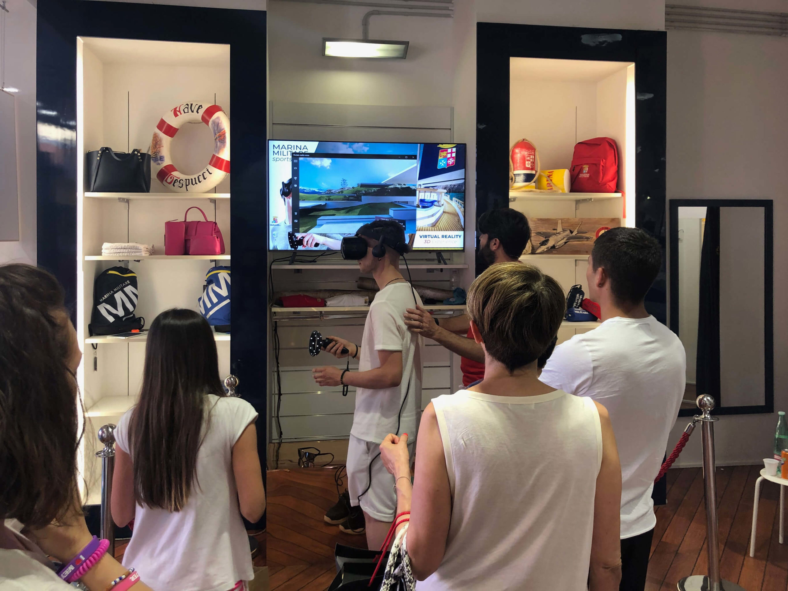 Evento VR e-commerce di Marina Militare Sportswear con Superresolution